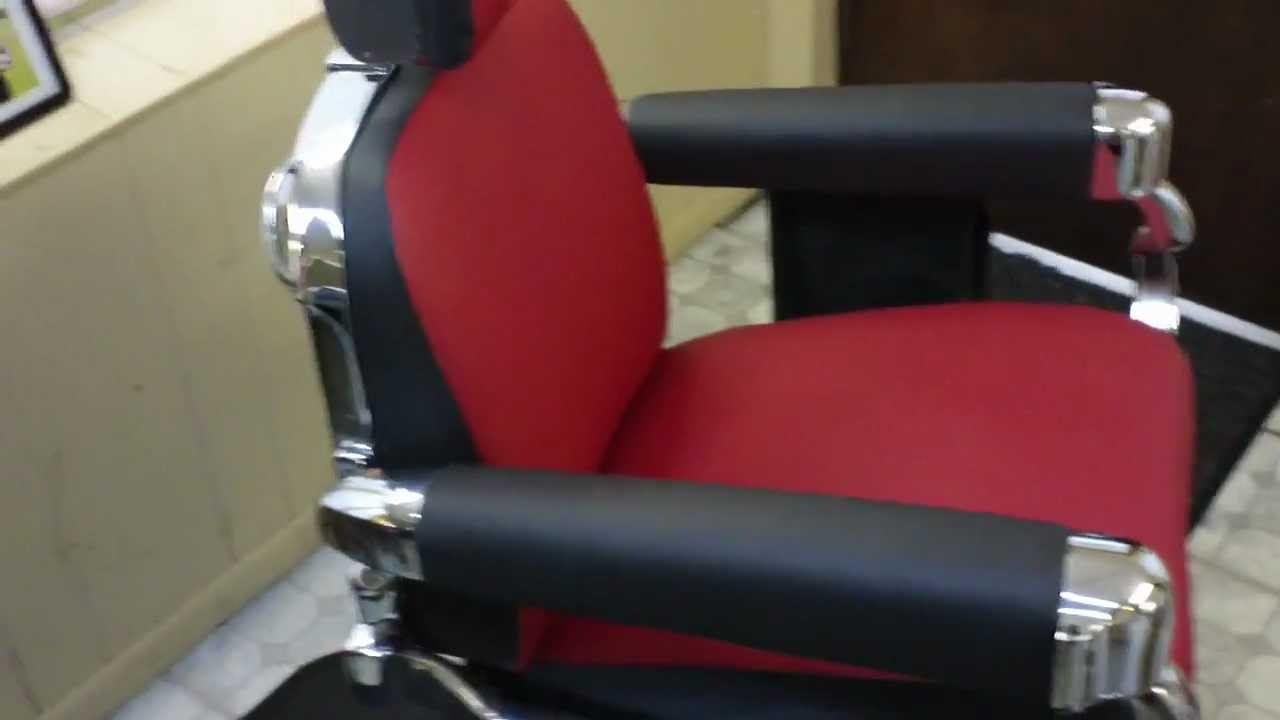 1950s Belmont Barber Chair Restoration Finished Product
