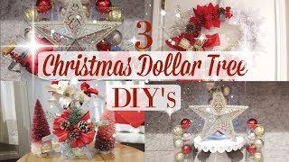 3 DOLLAR TREE CHRISTMAS DIY'S| RUSTIC DECOR| GLAM DECOR| EASY