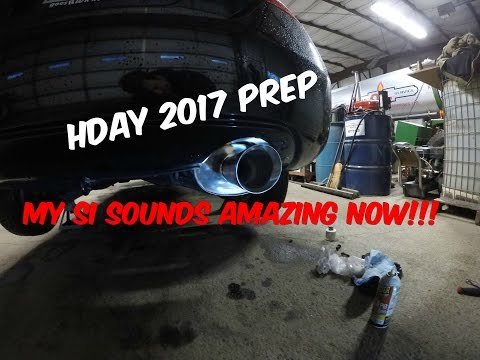 Project Midnight K20z3 Fg2 Gets New Exhaust!