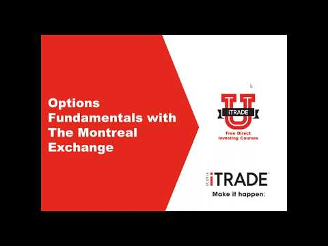 Options Fundamentals with The Montreal Exchange (July 2017)