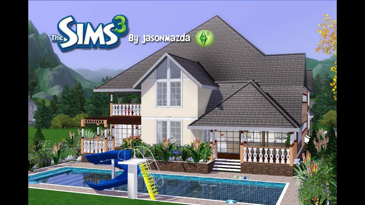Sims 3 ps3 houses litlle blueprints for Pool design sims 3