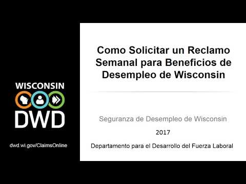 How to File a Weekly Claim Online for Wisconsin Unemployment Insurance Benefits  (Spanish)