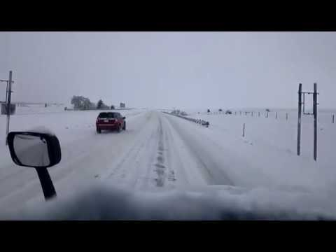 BigRigTravels LIVE! Livingston to Billings, Montana-Snow and ice driving Interstate 90-Nov. 3, 2017