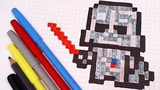 РИСУНКИ ПО КЛЕТОЧКАМ – ДАРТ ВЕЙДЕР -| Pixel Art - Простые рисунки звездные войны