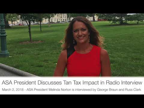 ASA President Discusses Tan Tax Impact in Radio Interview