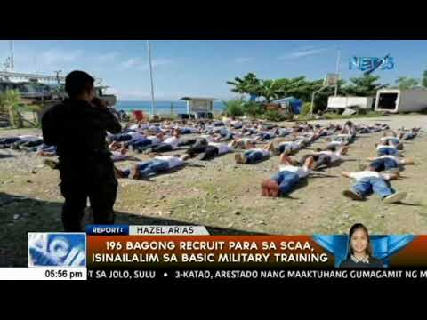 196 bagong recruit para sa scaa, isinailalim sa basic military training