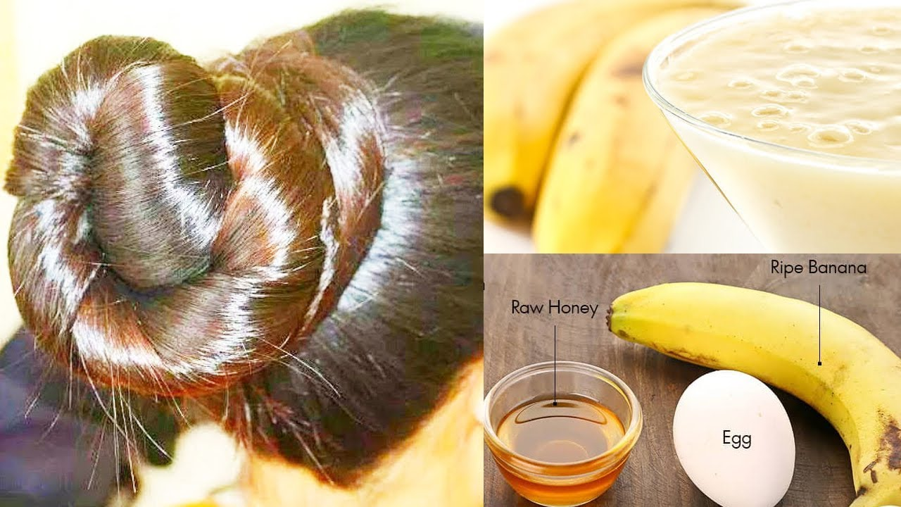 Image result for Bananas And Egg Treatment For Hair