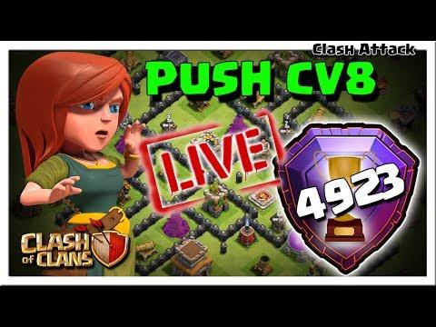 VEM PRA LIVE :: PUSH CV8 RUMO A LIGA LENDÁRIA :: CLASH OF CLANS