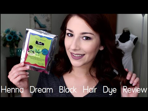 Henna Dream Black Hair Dye Review Results Demo On Medium Dark