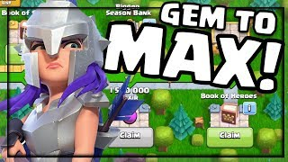 GEM TO MAX! Clash of Clans Gladiator Archer Queen Skin UNLOCKED and ALL NEW REWARDS!