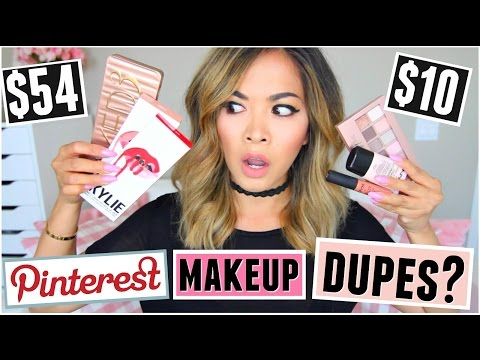 Pinterest MAKEUP DUPES Tested!