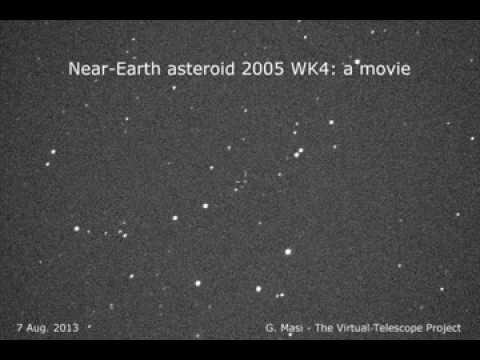 Near-Earth asteroid 2005 WK4: 6 Aug. 2013