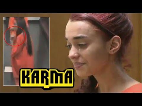 Instant Karma - Girls FLIPS Off Judge and Instantly Regrets it! Hilarious! Sovereign Citizen REKT!