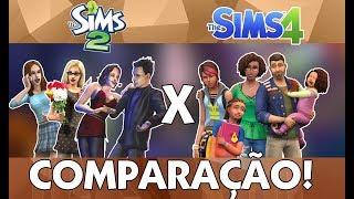 Comparação The Sims 2 x The Sims 4