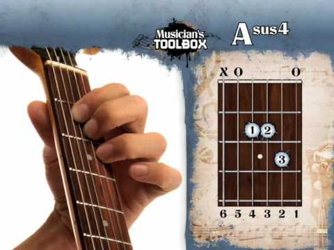 How to play the A sus 4 chord on guitar Asus4 - YouTube