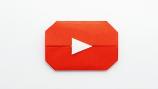 ORIGAMI YOUTUBE PLAY BUTTON (Jo Nakashima)