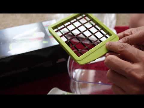 Vegetable Chopper Chop And Slice Sharper Image Unboxing