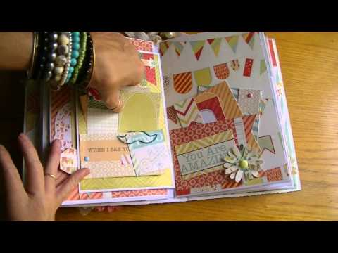 Mini Album using Sweet Tangerine Collection by DCWV  8 -19 -14
