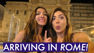 Arriving in...ROME & Midnight At The Trevi Fountain! | Amelia Liana Rome Travel Vlog