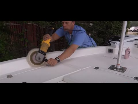 Full Gel Coat Restoration / Nautic Star Boat 2110 Sport / National Overspray Removal Services