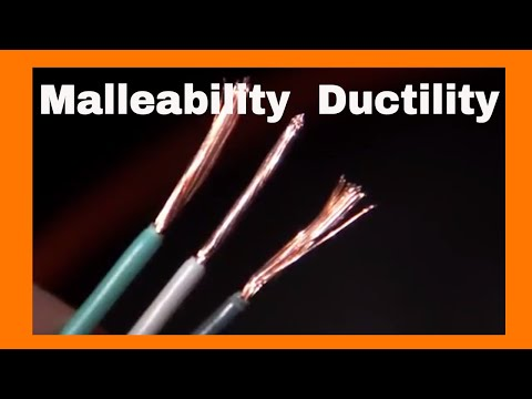 Malleability and Ductility-Physical Properties