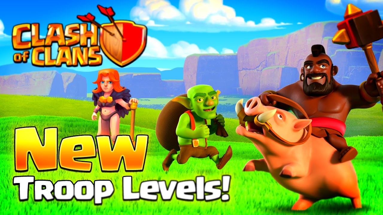 Clash Of Clans New Max Level  Hog Rider  Valkyrie Youtube