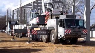 Mobilkran Terex Demag AC100 Faun ATF 90G Voss crane lifting concrete beams(, 2014-03-06T22:58:14.000Z)