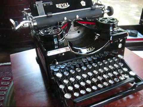 royal typewriter demonstration youtube. Black Bedroom Furniture Sets. Home Design Ideas