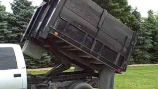 95 GMC 6 5 Diesel Auto 4x4 Dually Landscape Dump Bed Video Ride