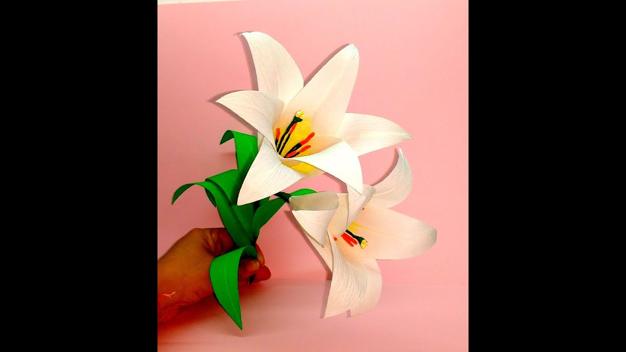 How To Make Paper Origami Easter Lilies | JAM Paper | 720x1280