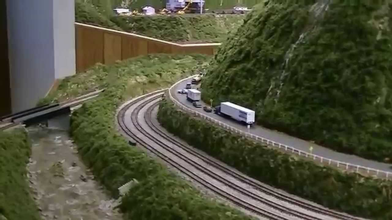 N amp J Lines N scale model railroad layout tour YouTube
