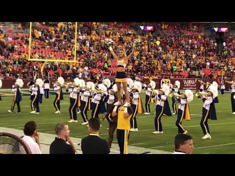 WVU Mountaineer Marching Band Fedex Field Vs. VT 9/3/17