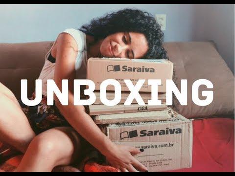 UNBOXING SARAIVA  l LIVROS 50% DE DESCONTO