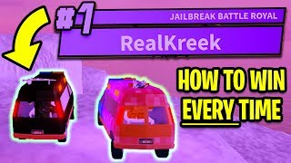 HOW TO WIN JAILBREAK BATTLE ROYALE *EVERY TIME!* | Roblox Jailbreak New Update