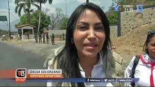 Tensión entre militares y opositores en Venezuela