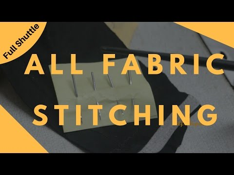 अलग अलग कपड़ो पर कोंसी सुई लगाये | All Fabric Stitching | Full Shuttle