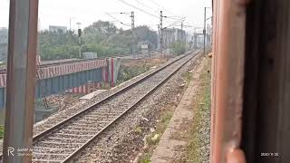 Indian railway action between Deen Dayal Upadhyay Jn (Mughalsarai) to Varanasi on board Shalimar Sp