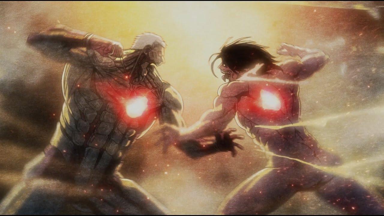 Reiner and Eren fighting