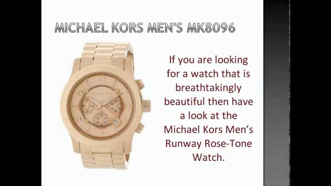 e1fc9dcee76c Michael Kors Men s MK8096 Runway Rose Tone Watch - YouTube
