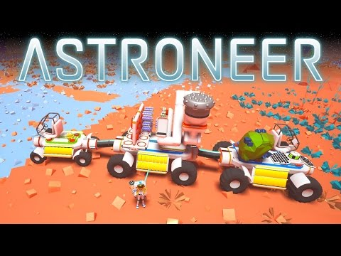 ASTRONEER Gameplay :: Ep 4 :: MOBILE MINING DRILL RIG!