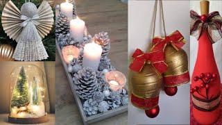 25 Ideias Geniais diy Natal♻️ Easy decorations Crafts Ideas at Christmas