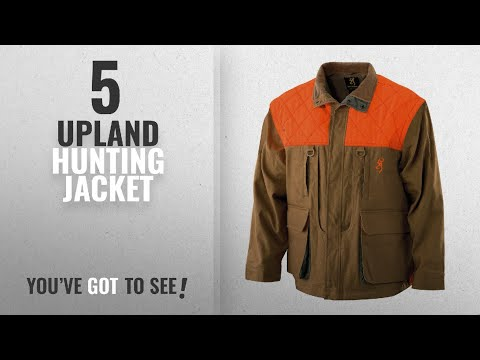 Top 10 Upland Hunting Jacket [2018]: Browning Pheasants Forever Jacket,Tan/Blaze, X-Large