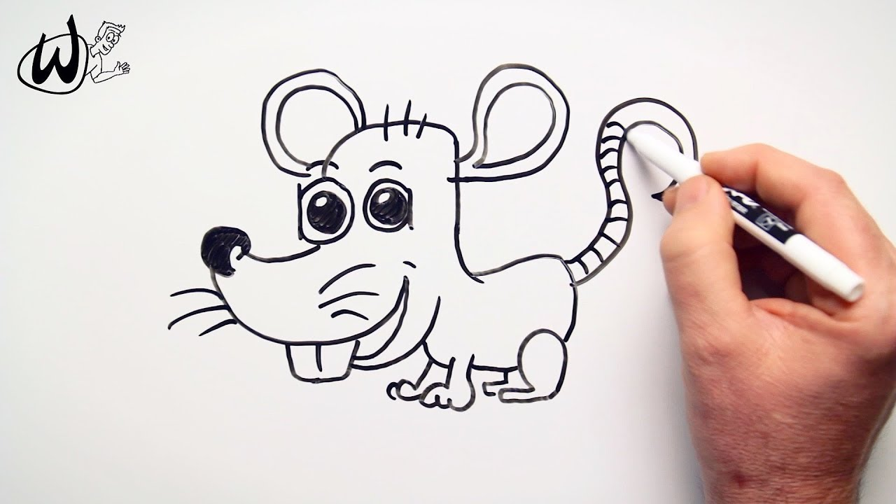 How To Draw A Rat Drawing Doodle Words To Cartoon Youtube