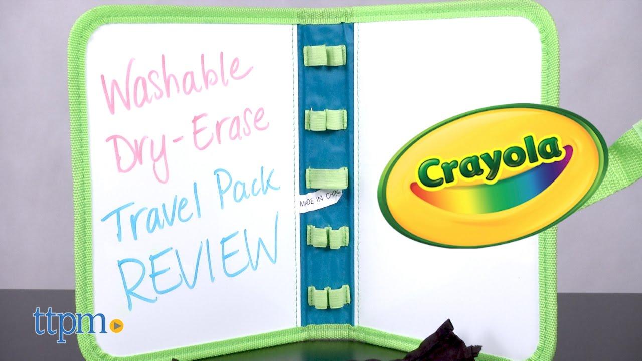 washable dry erase travel pack from crayola youtube