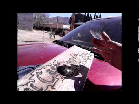 Wood Burning Art With A Magnifying Glass Awesome YouTube - Artist creates art power sunlight magnifying glass