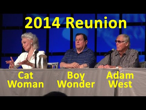 Holy Batman Original Cast Reunion Adam West, Burt Ward, Julie Newmar, Robin, Catwoman
