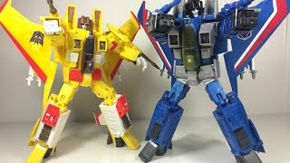 Transformers Masterpiece Sunstorm & Thundercracker Toy Review