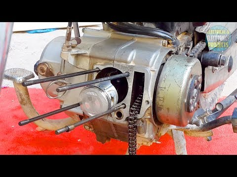 Installing piston and valves to CD-70 motorcycle engine | Head cylinder assemble/disassemble Ct 70