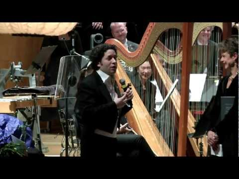 Dudamel & GSO - Mahler 2 and speech to the orchestra