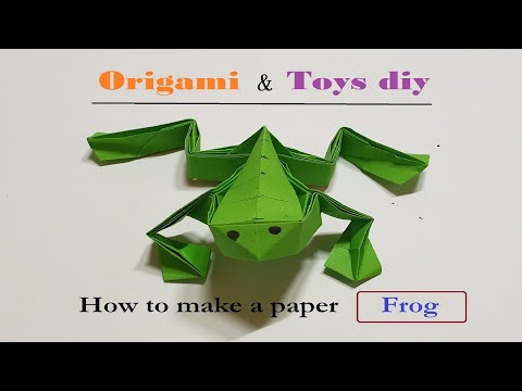 Origami ,How to make a paper Easy Frog TOYS DIY